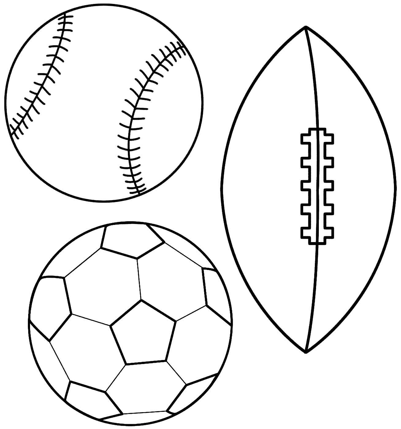 Desenho de bolas para colorir