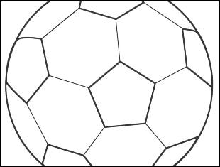 Desenhos para colorir de bola