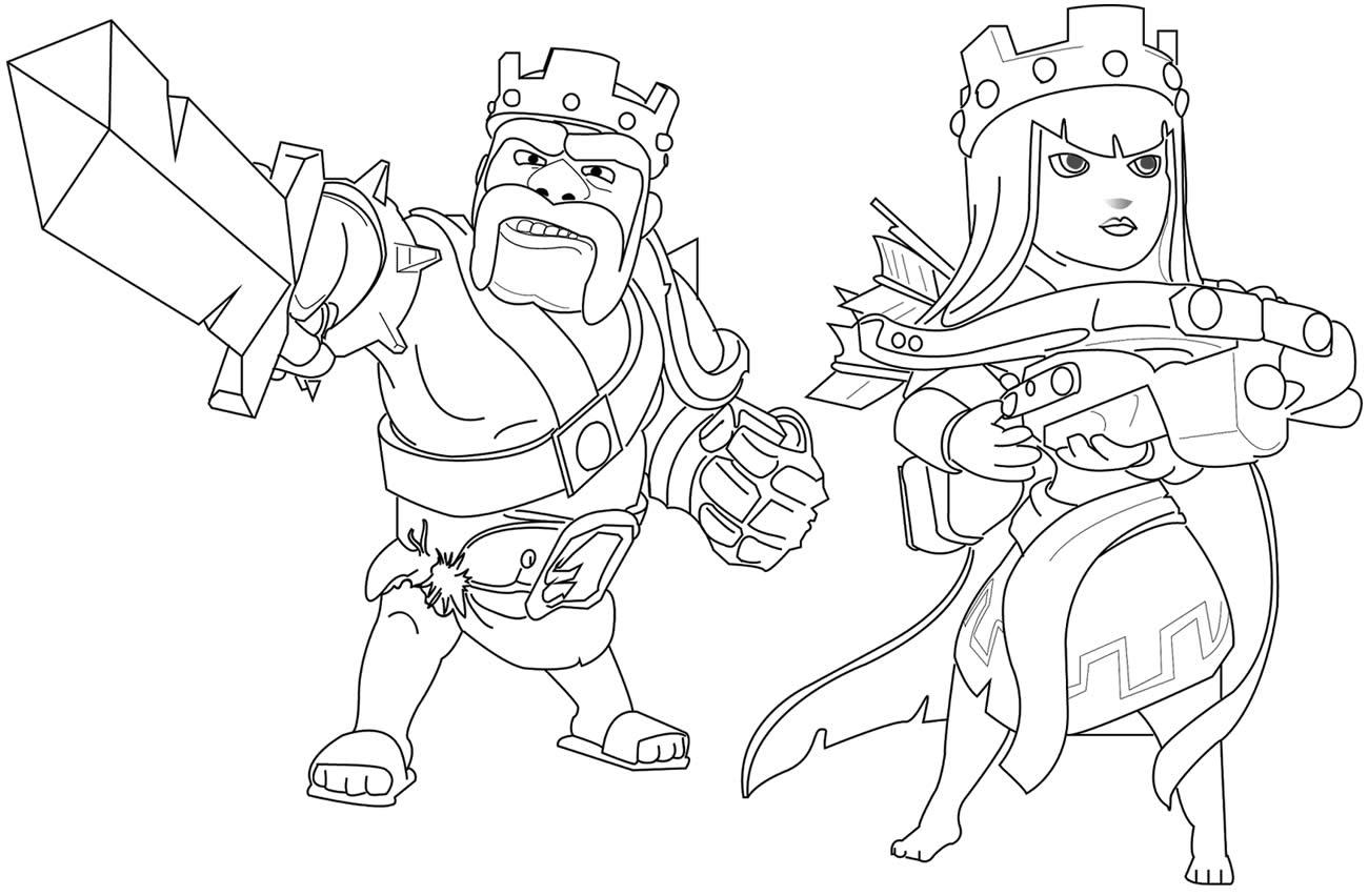 Desenho para colorir de Clash of Clans