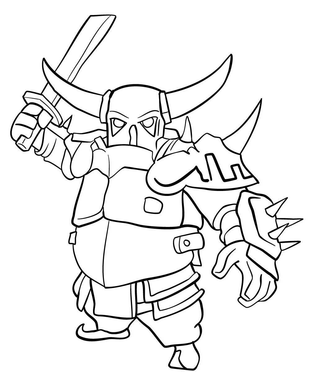 Imagem para colorir de Clash of Clans