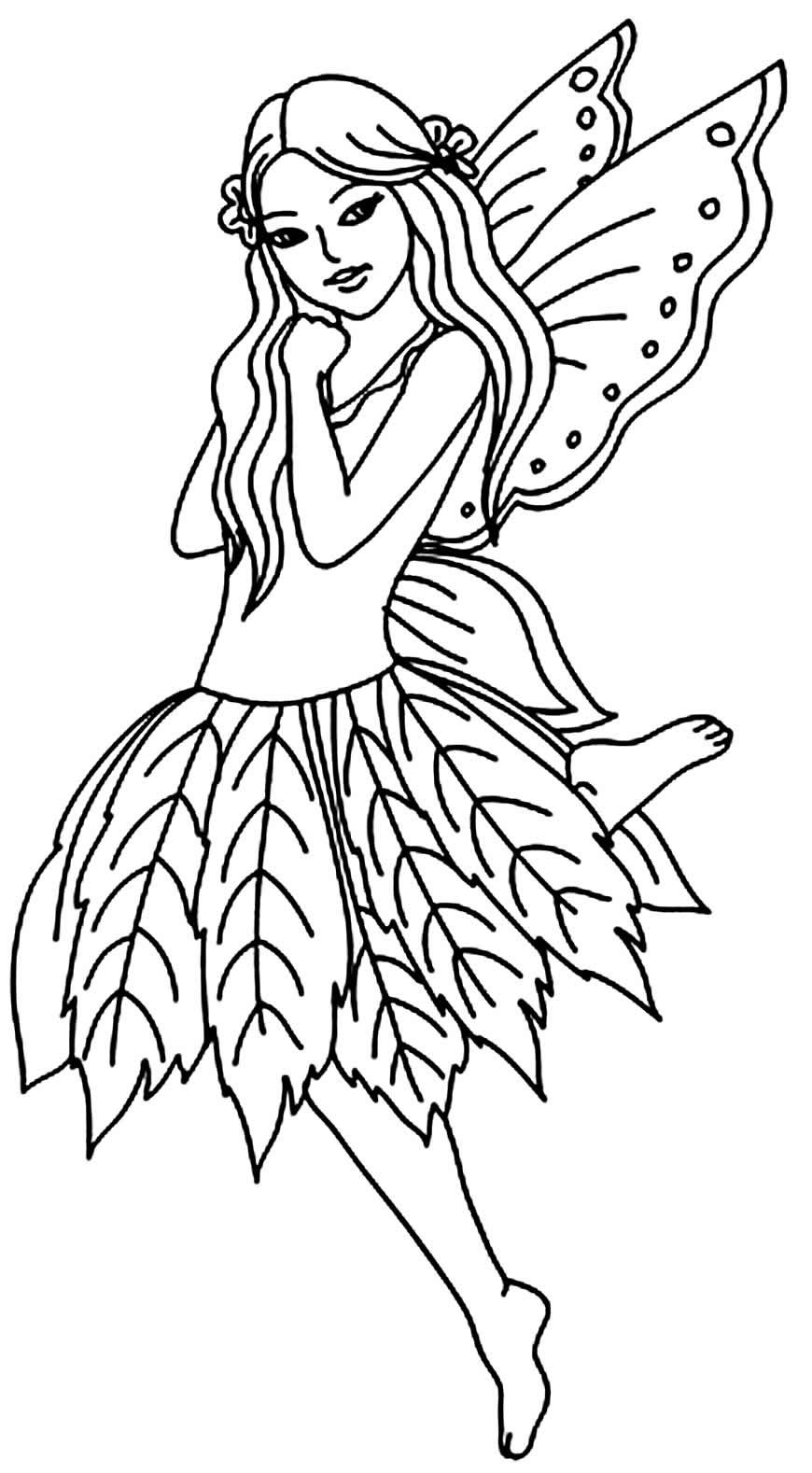 Desenho para colorir de Fada