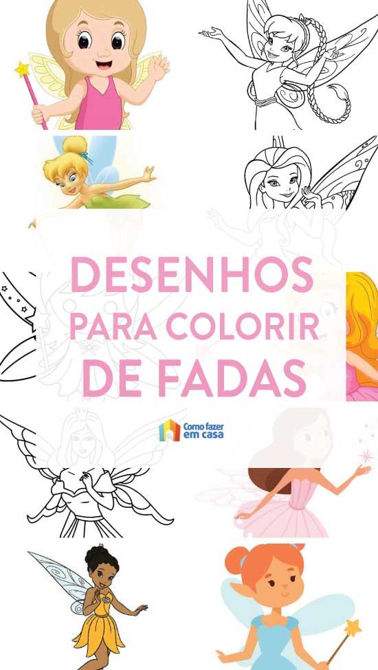 Desenhos de fada para imprimir e colorir