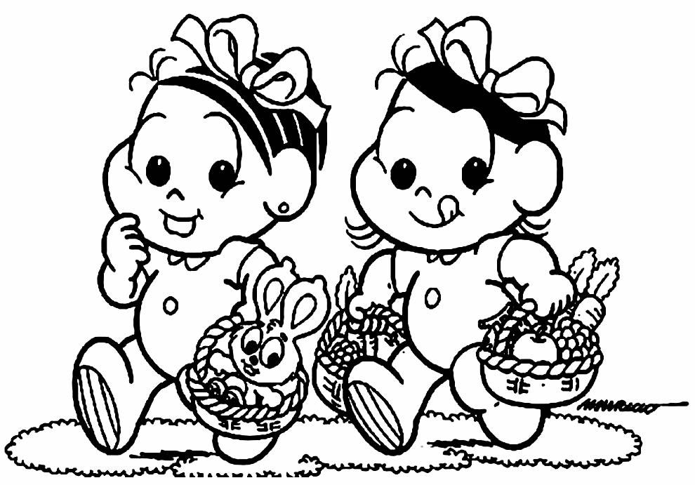 Desenhos da Turma da Mônica para colorir