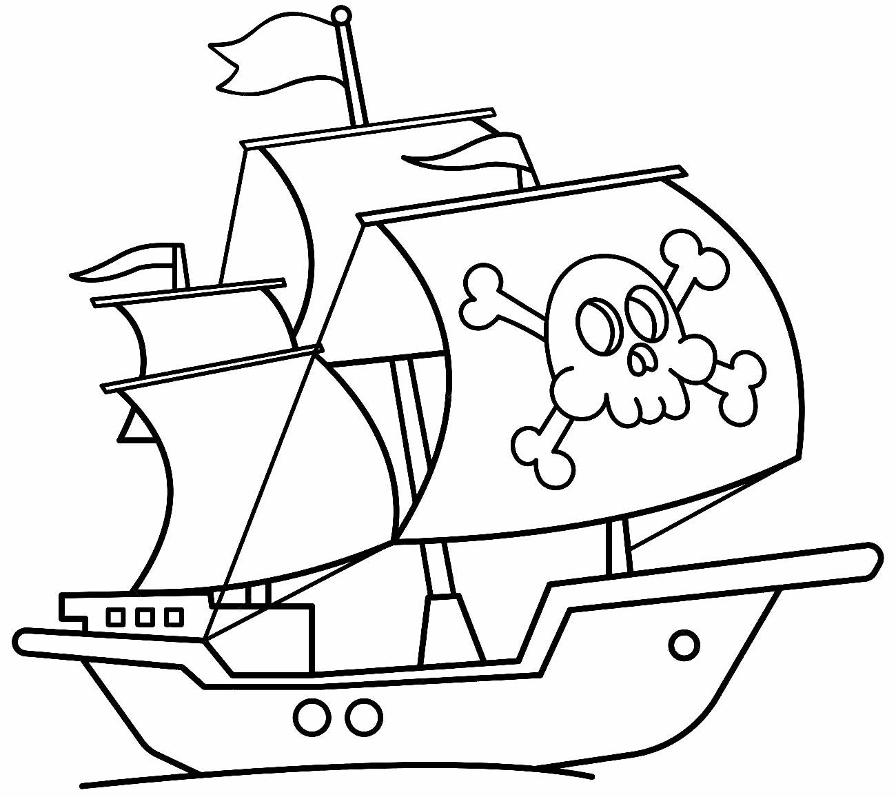 Desenho de navio pirata