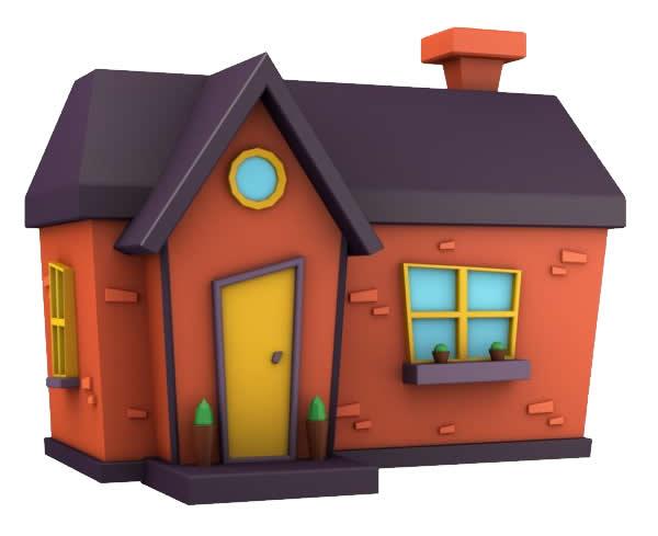 Molde colorido de Casa