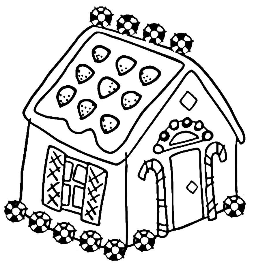 Desenho de casa para pintar