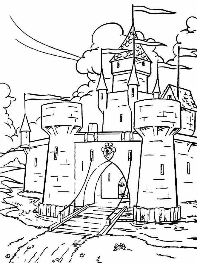 Desenho de castelo para imprimir