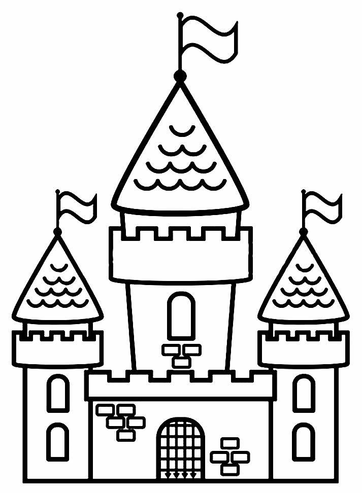 Desenho de castelo para pintar