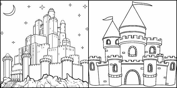 Desenhos para colorir de Castelo