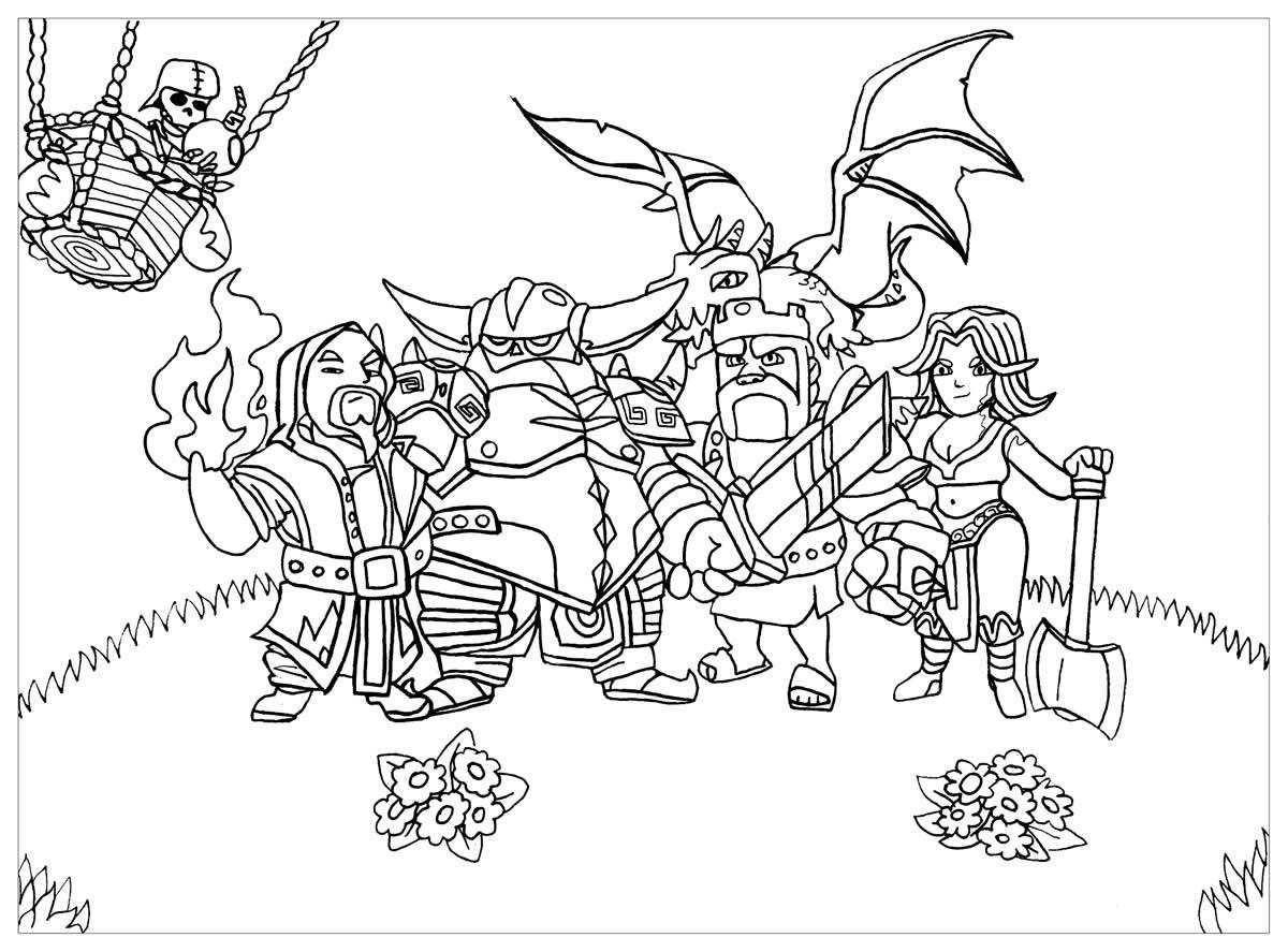 Imagem de Clash of Clans para colorir