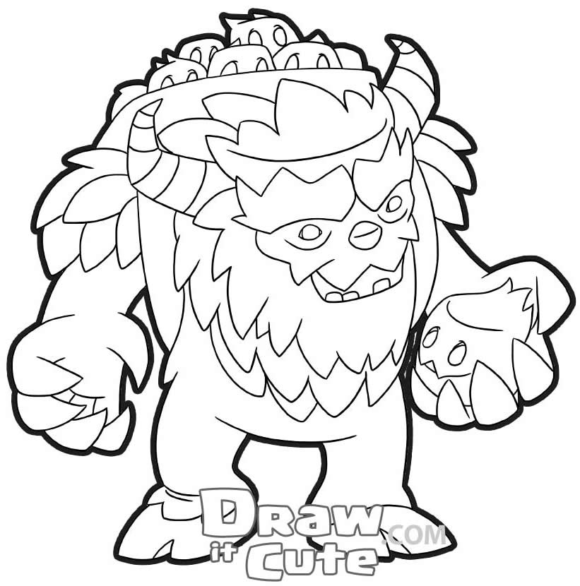 Desenho de Clash of Clans para pintar