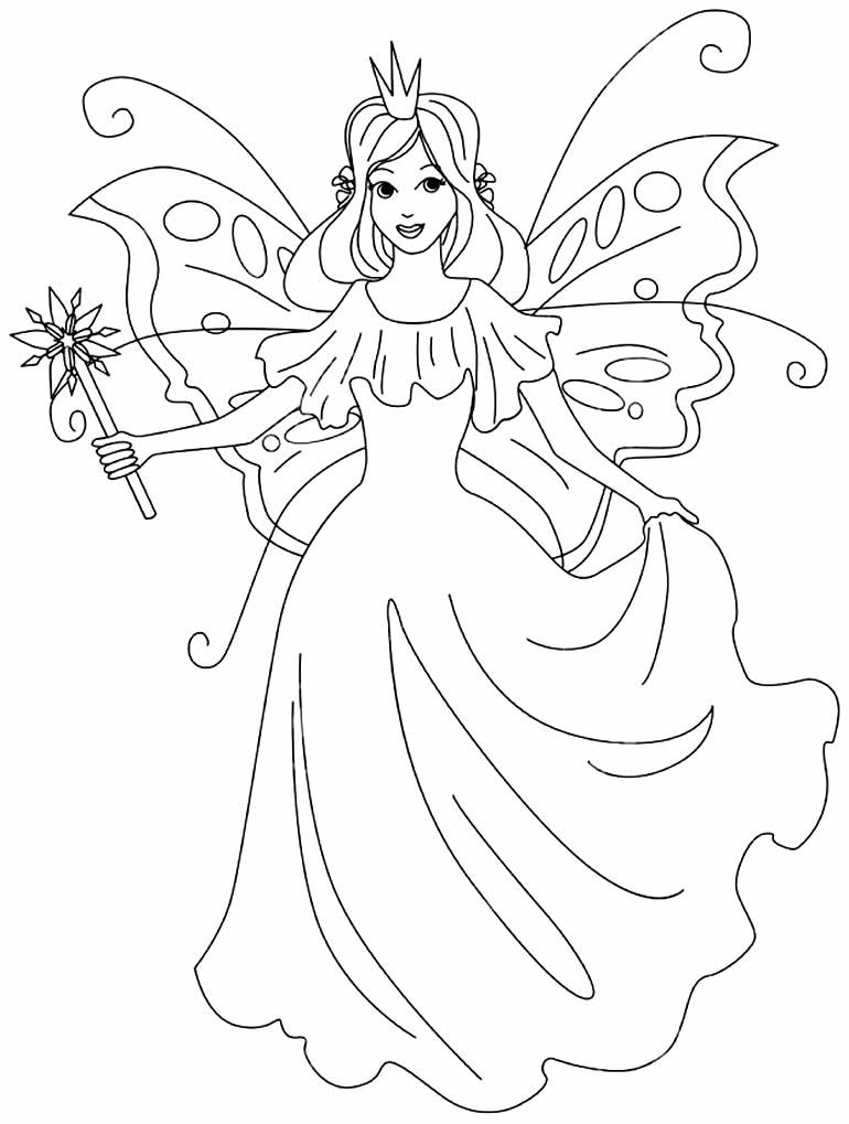 Imagem de fada para colorir