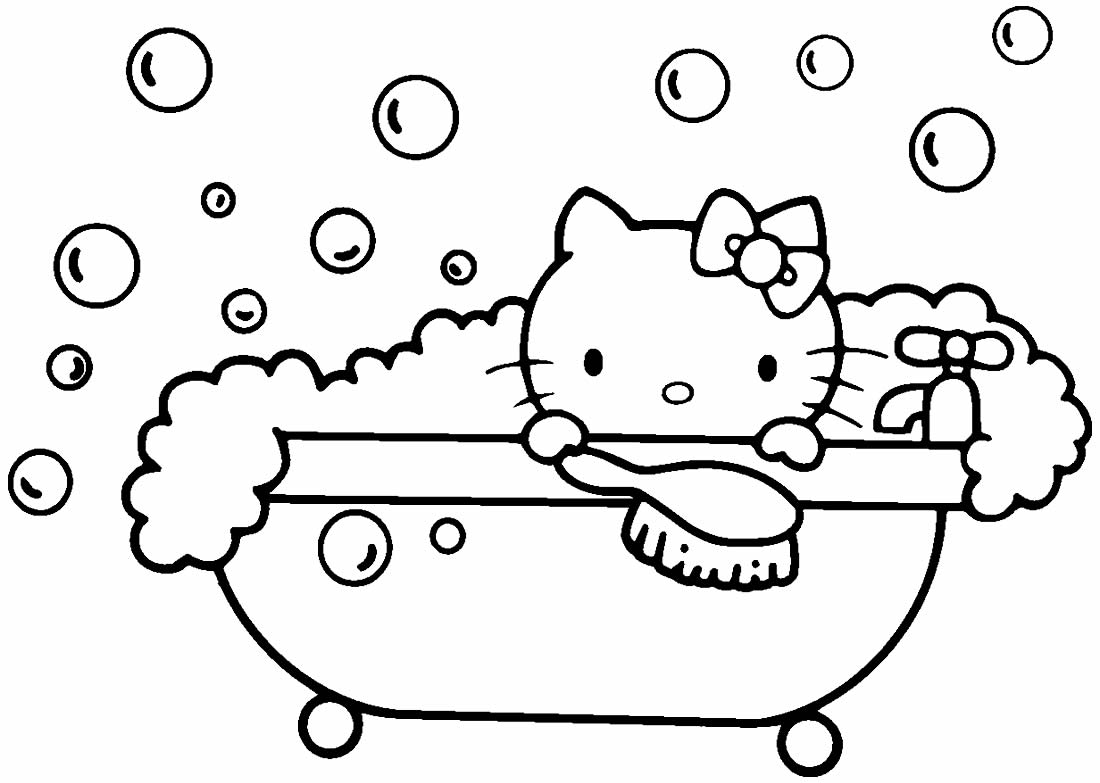 Imagem da Hello Kitty para imprimir