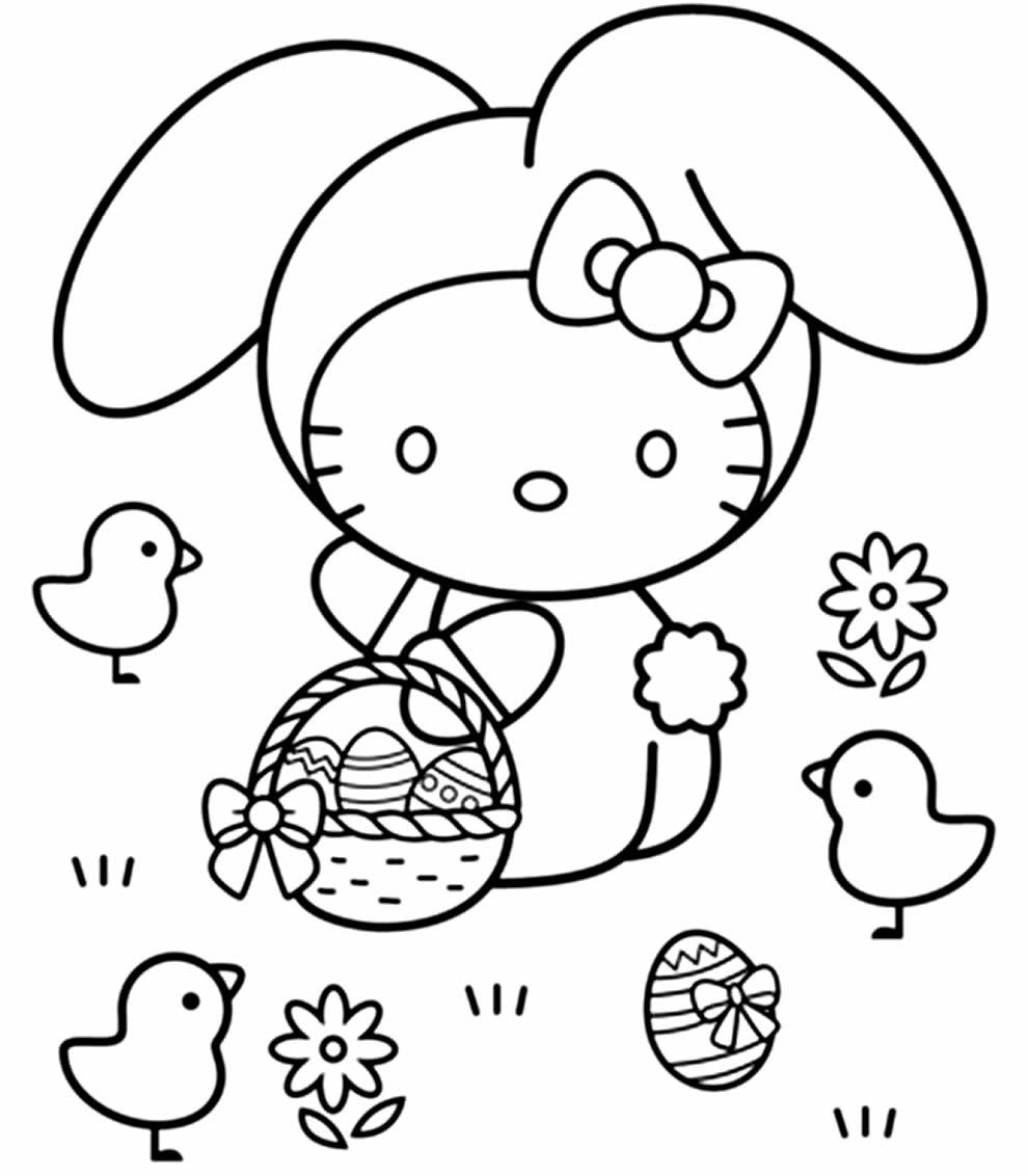 Desenho da Hello Kitty para colorir