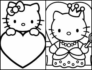 Desenhos para colorir da Hello Kitty