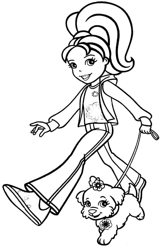 Desenho da Polly Pocket para pintar