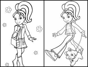Desenhos para colorir da Polly Pocket