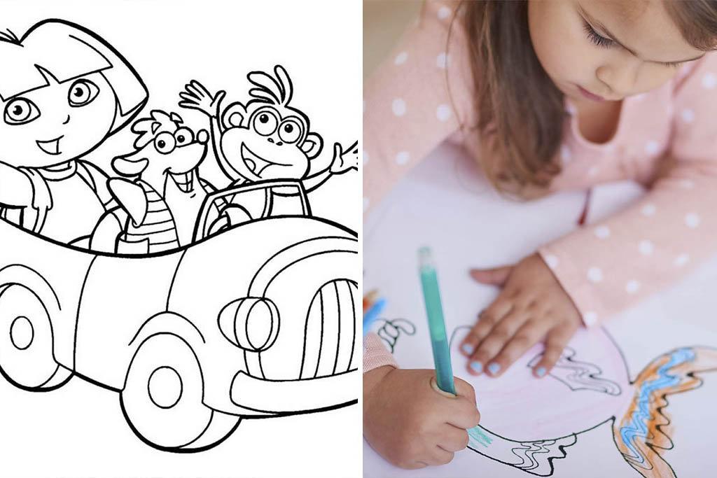 Desenhos para pintar infantil