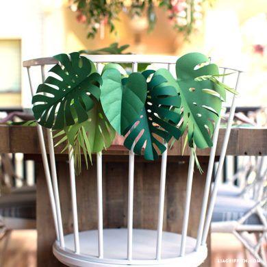 Molde de folhas de papel