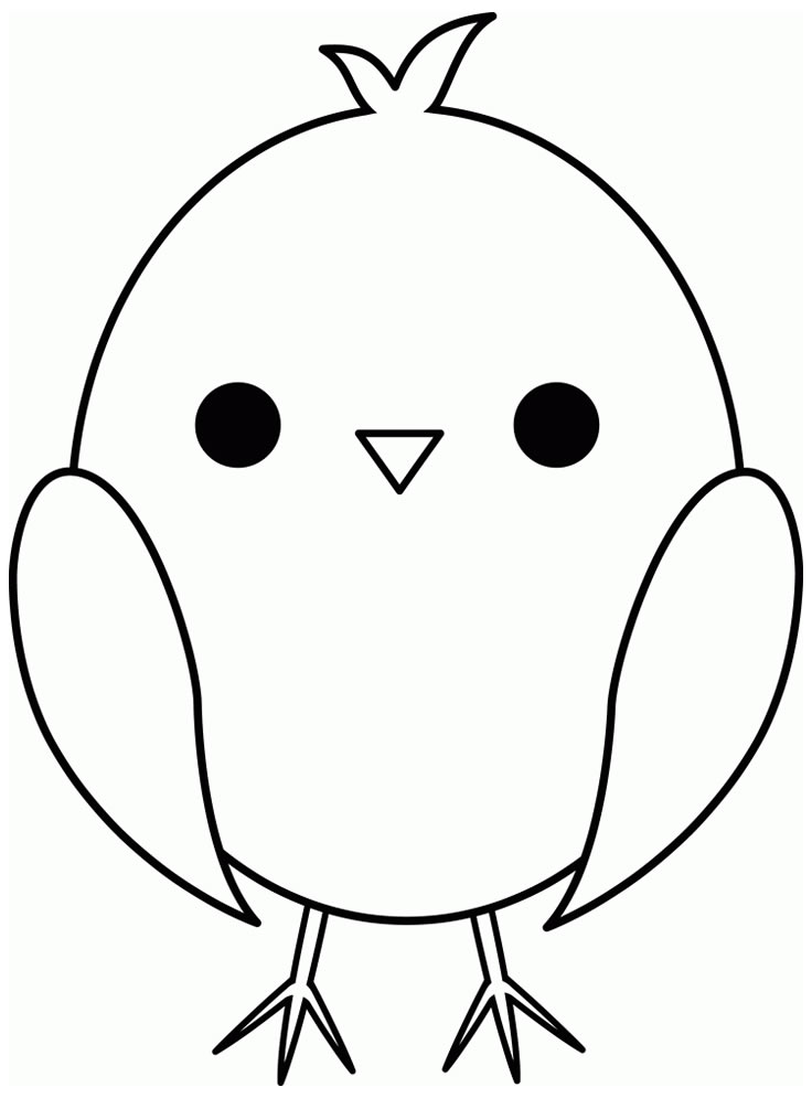 Molde de passarinho fofo