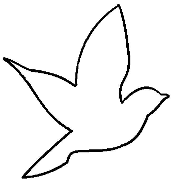 Molde de passarinho fácil