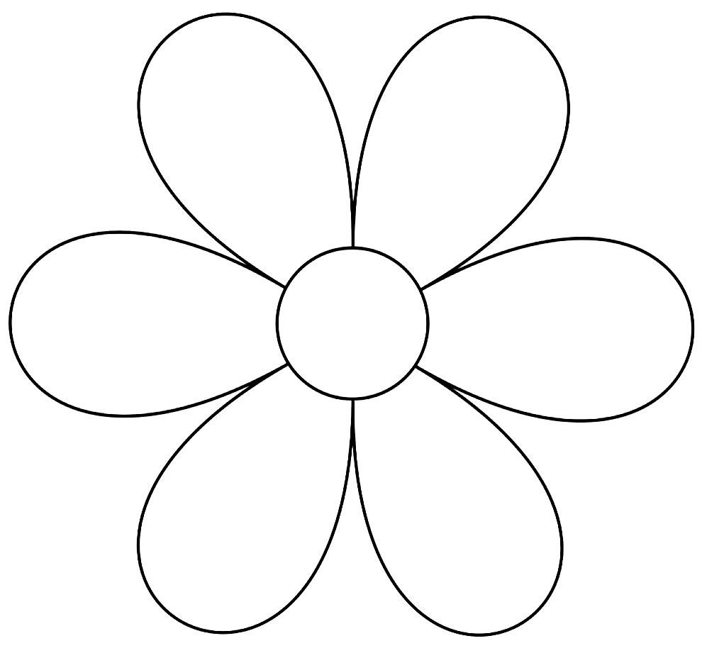 Molde de flor de papel simples