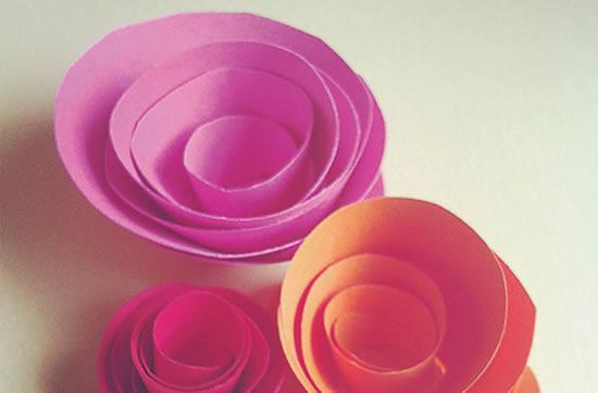 Flor de papel fácil