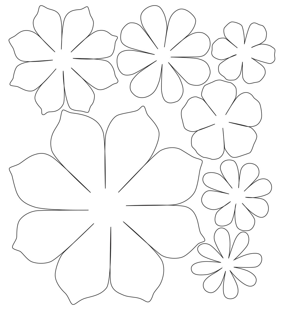 Molde de flor de papel fácil