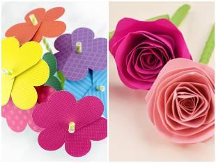 Moldes para flores de papel