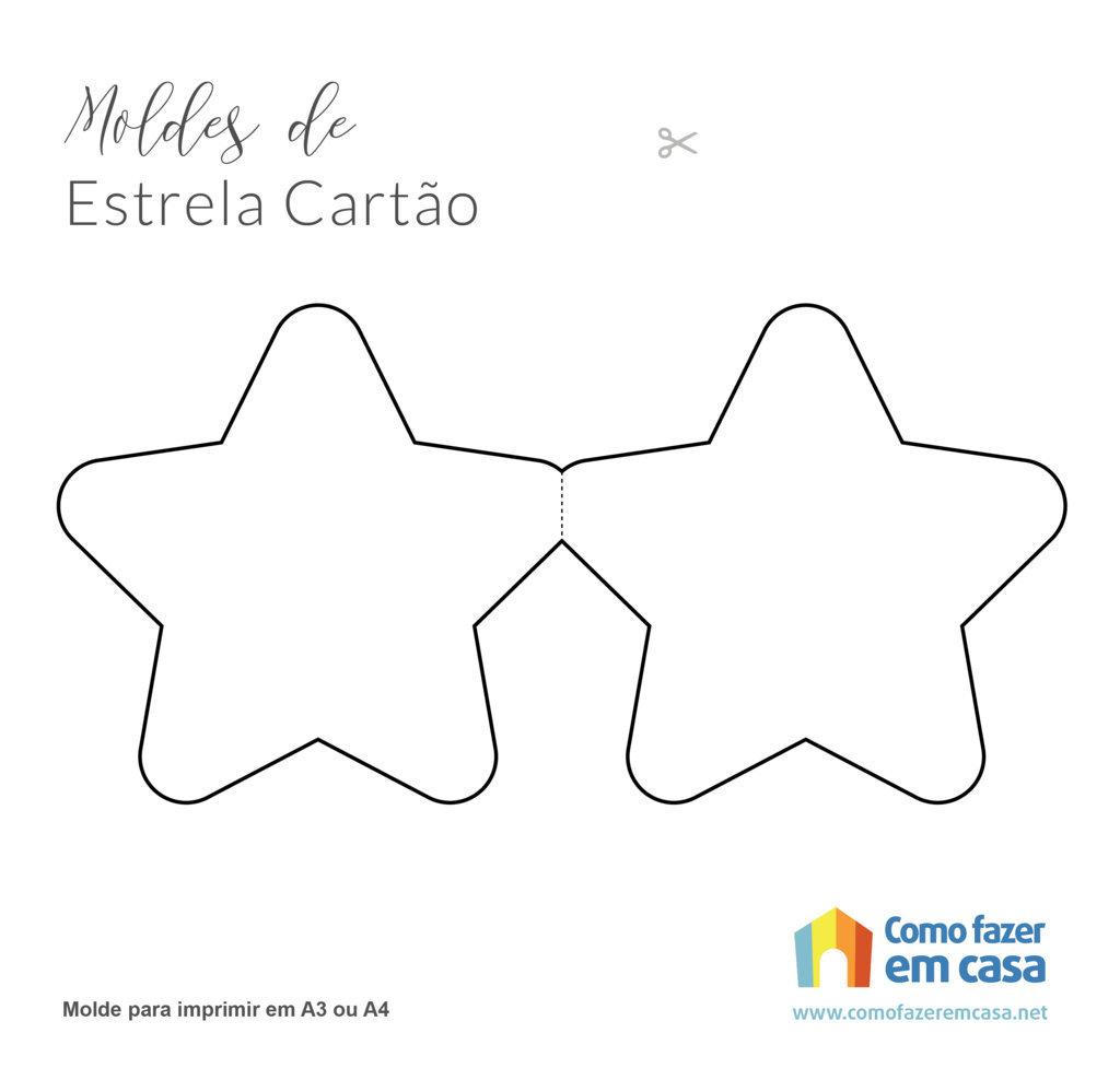 cartão em formato de estrela