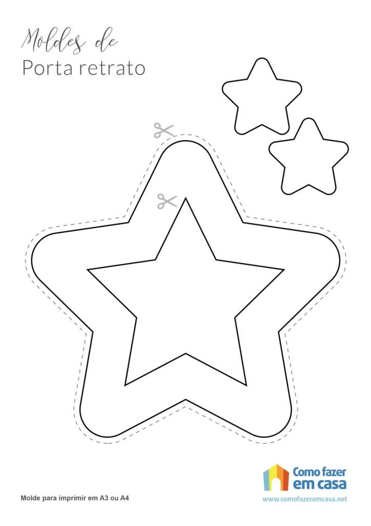 porta retrato de estrela