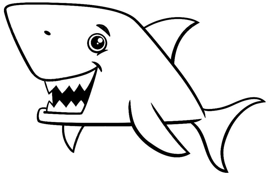 Desenho de tubarão para pintar
