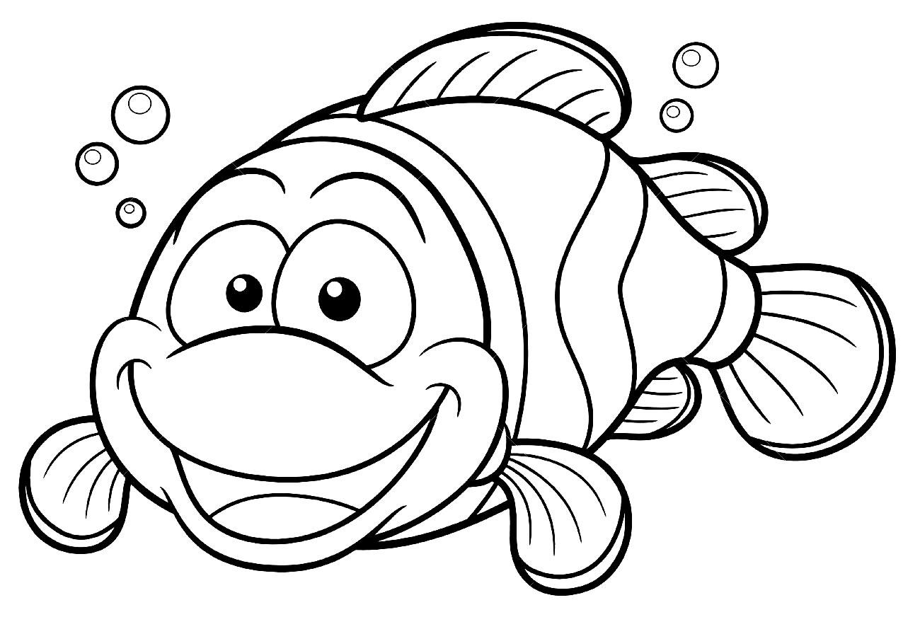 Desenho de peixinho para pintar