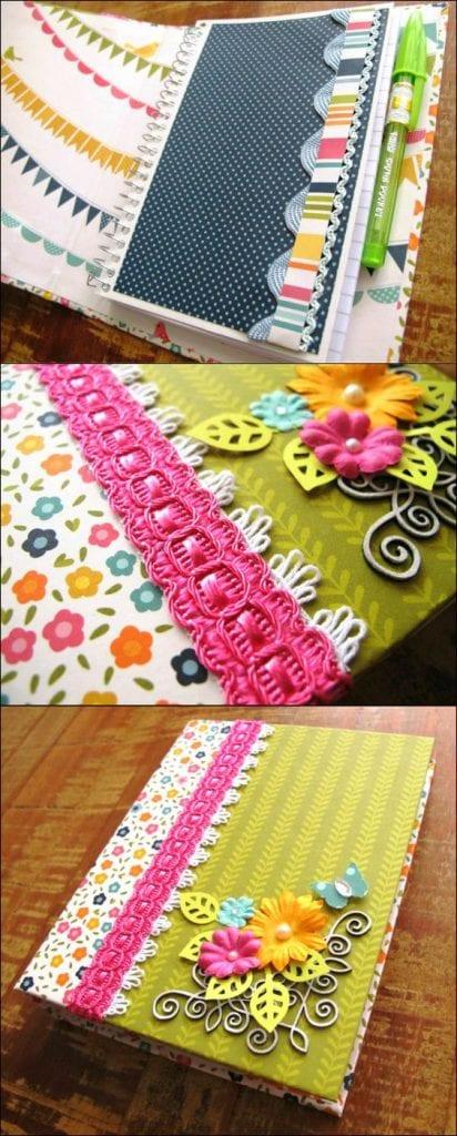 decoração de caderno