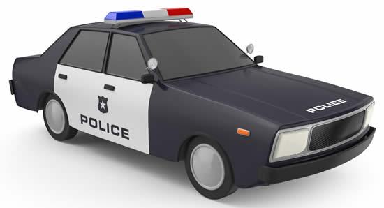 Molde de Carro de Polícia