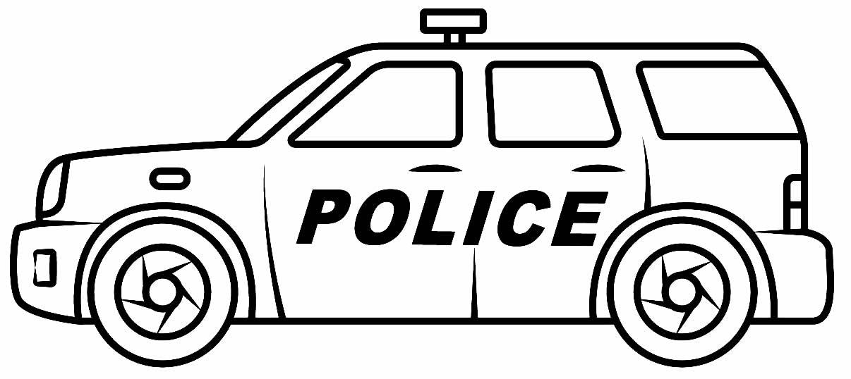 Imagem para colorir de carro de polícia