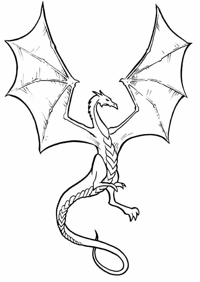 Desenho lindo de Dragão