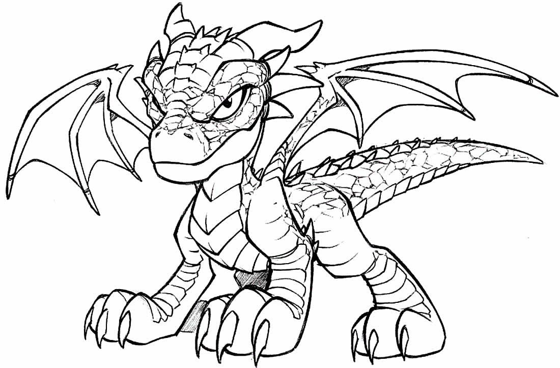 Desenho para pintar de Dragão