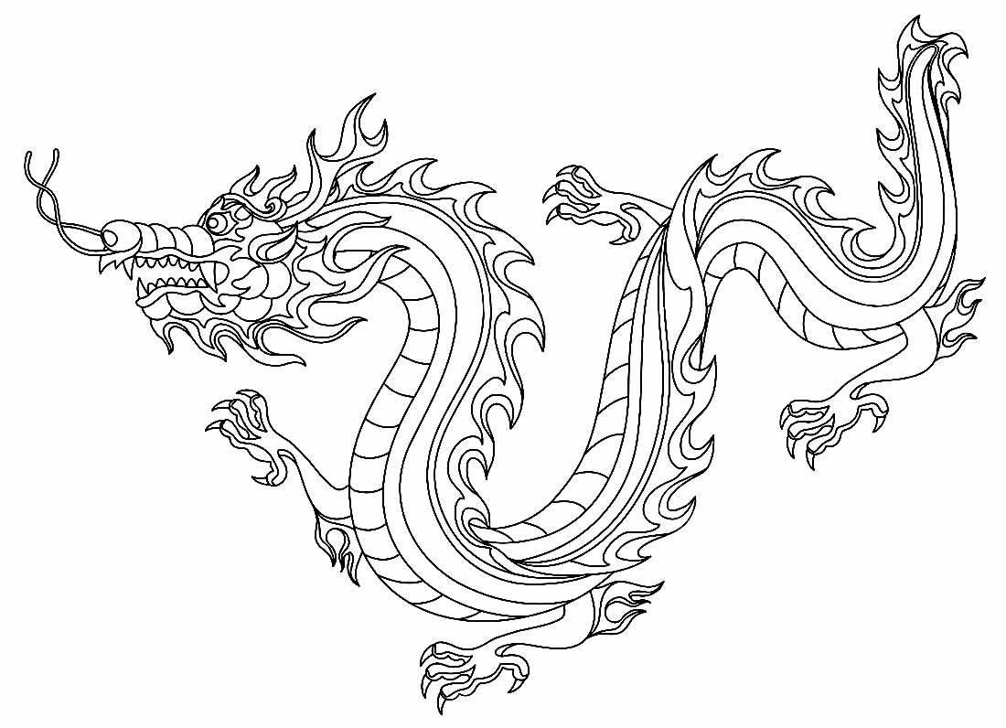 Desenho para colorir de Dragão