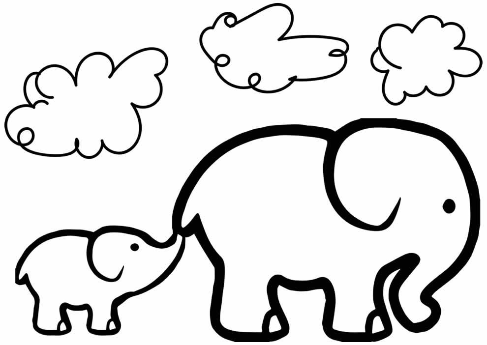 Desenho lindo de Elefantes