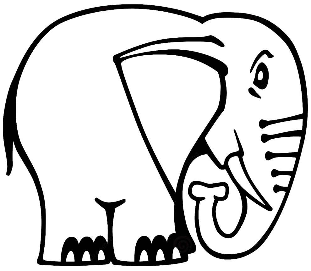 Desenho de elefantinho para colorir