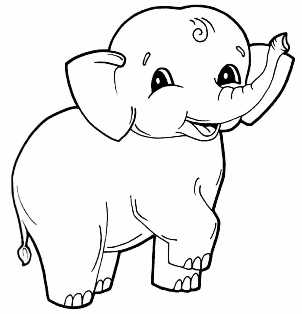 Desenho lindo de Elefante