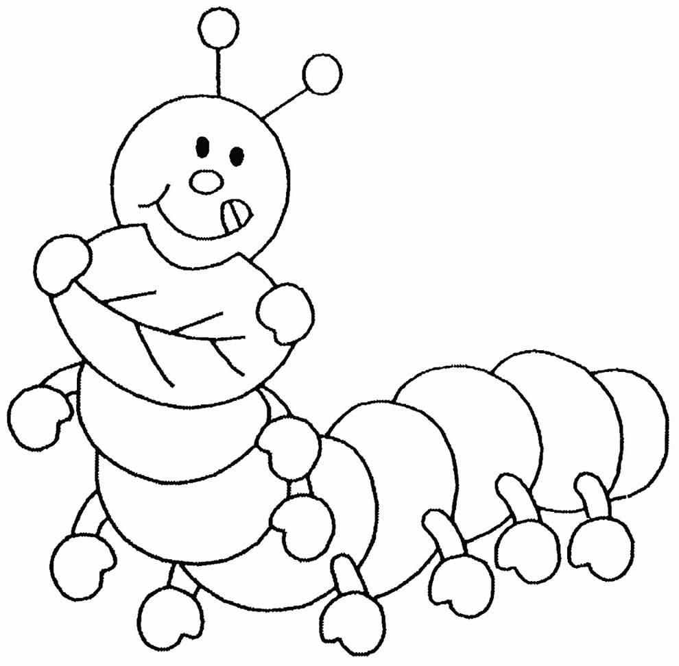 Desenho de Lagarta para imprimir