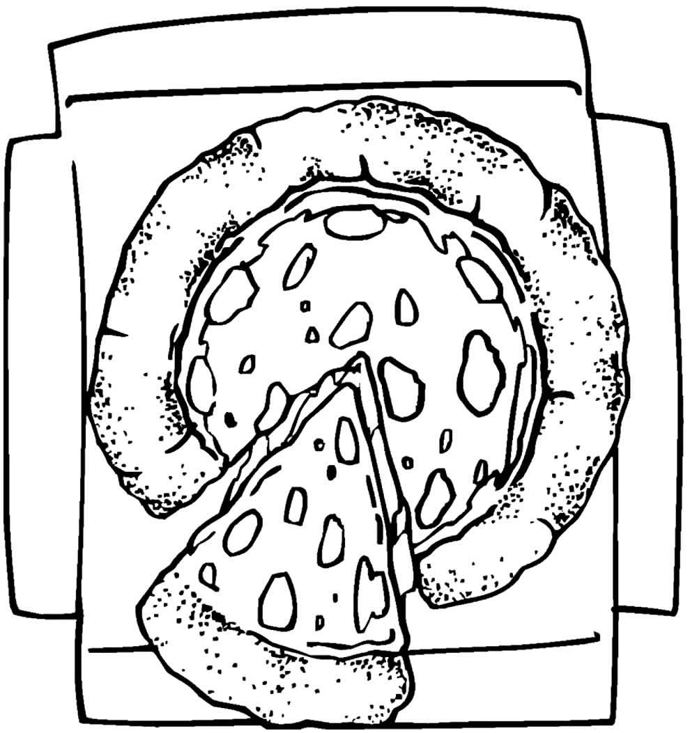 Desenho de Pizza