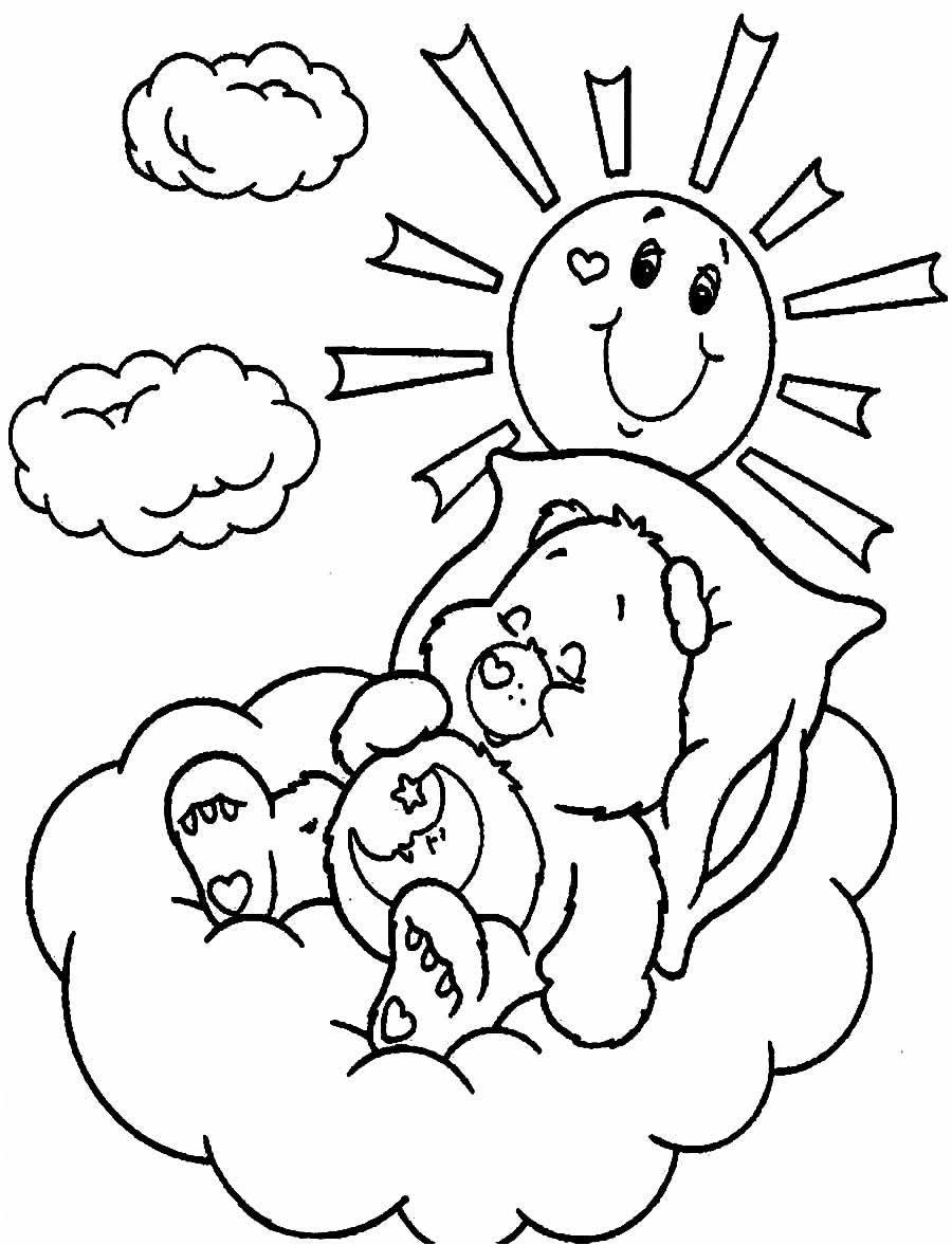 Desenho dos Ursinhos Carinhosos para colorir