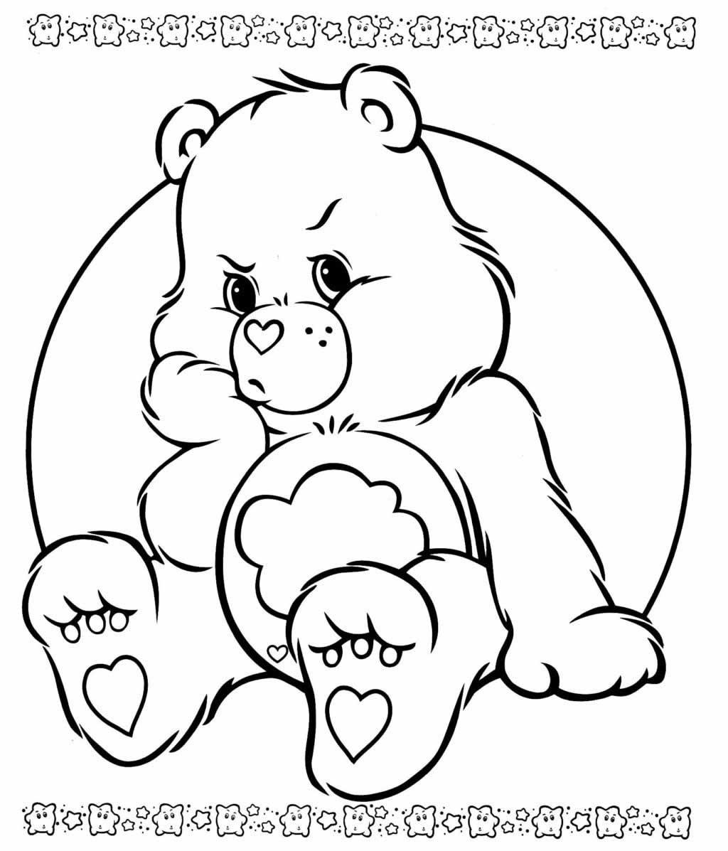 Desenho dos Ursinhos Carinhosos para imprimir e colorir