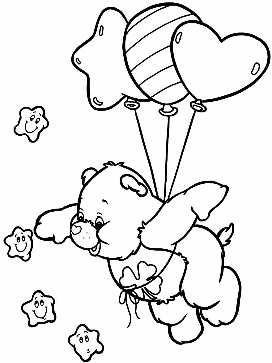 Molde dos Ursinhos Carinhosos para imprimir e colorir