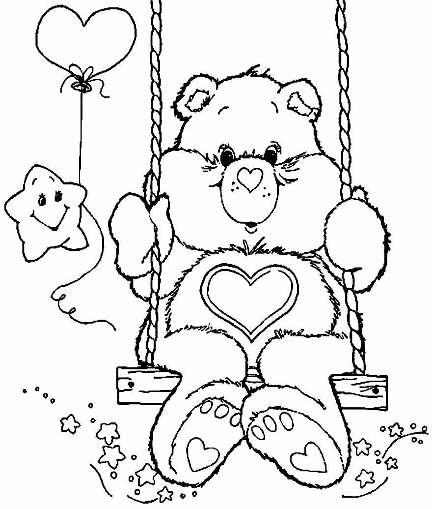 Desenho para colorir dos Ursinhos Carinhosos