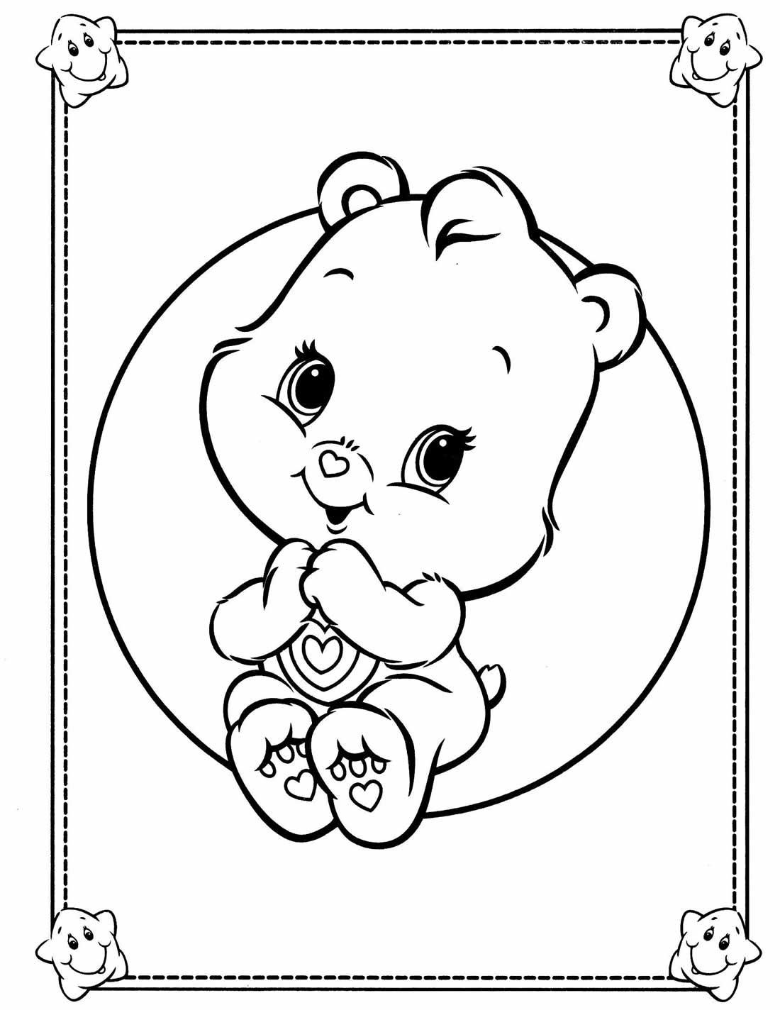 Desenho dos Ursinhos Carinhosos para pintar