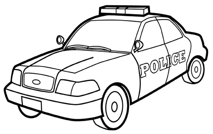 Imagens de carros de polícia para pintar